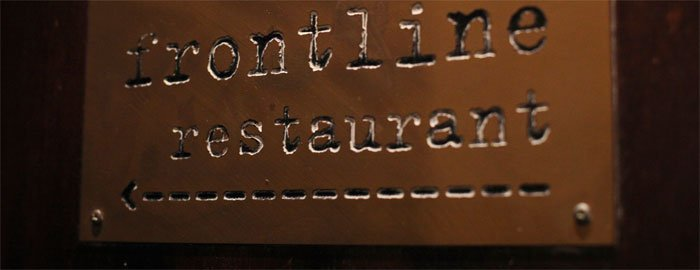 Sign to the Frontline Restaurant