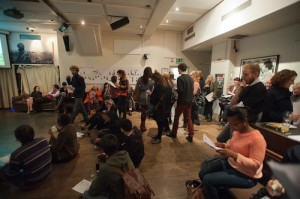 The audience at the Between the Lines launch. Photography: Mark Shenley