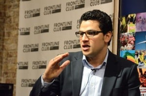 Mustafa Menshawy at the Frontline Club. Photograph: Richard Nield