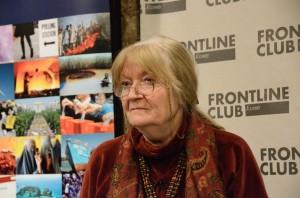 Naomi Sakr at the Frontline Club. Photograph: Richard Nield.