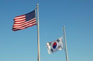 southkoreaandusflags