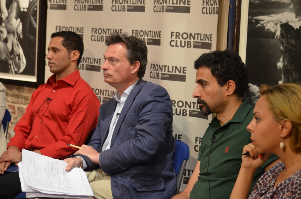 Dr Omar Ahour (left), Jonathan Rugman (centre left), Mohamed Yehia (centre right), Dina Wahba (right); Photo: Dan Tookey