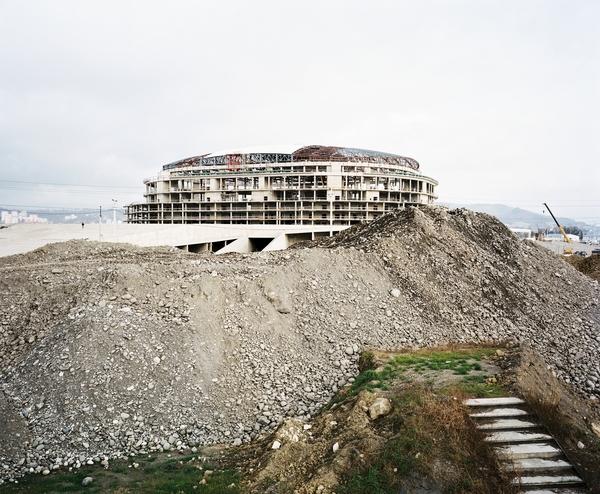 Building of Olympic Stadium, Sochi