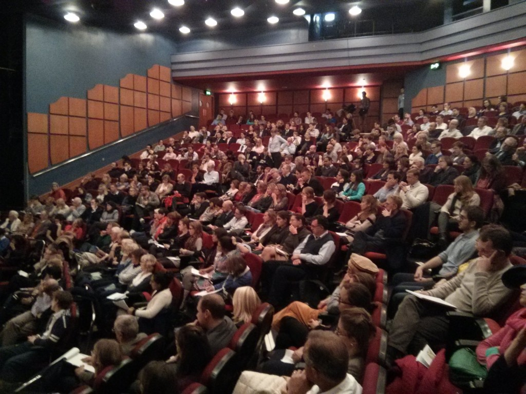The packed Shaw Theatre. Photo: Will Spens