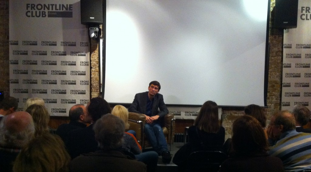 Director Nicholas Wrathall taking questions from the audience. Photo: Greta Hoffman