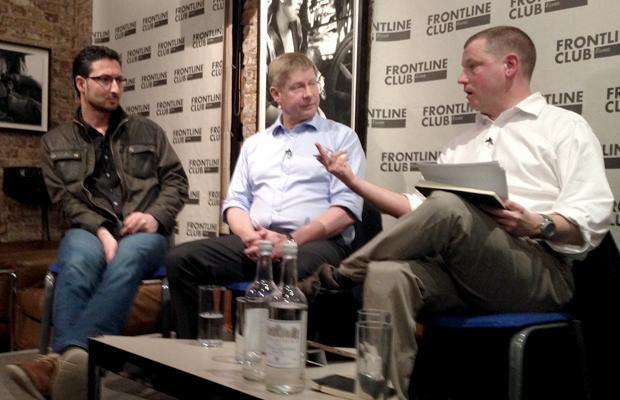 Mani, Sean Ryan and Stuart Hughes discuss reporting on Syria
