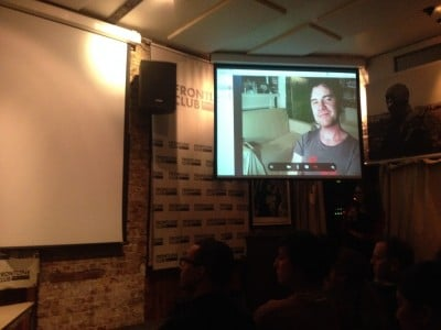 Director Mark Cousins joins the Q&A via Skype