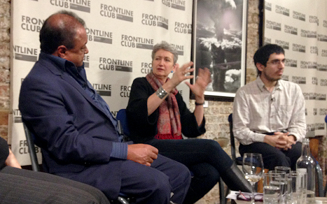 Kim Sengupta, Lindsey Hilsum and Aymenn Jawad Al-Tamimi discuss Syria and ISIS at the Frontline Club