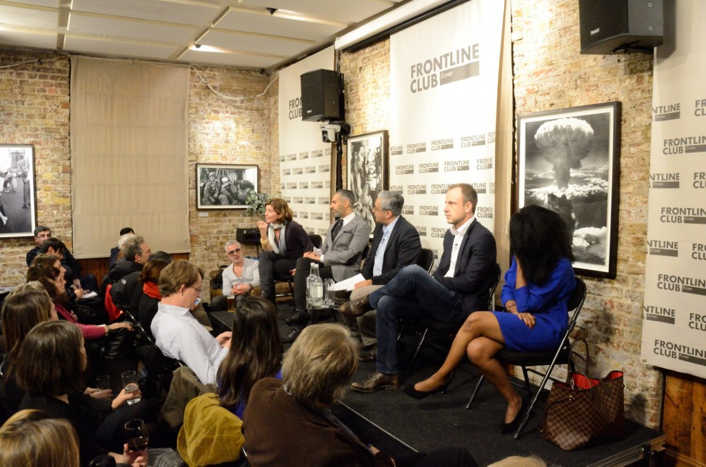 Terror in France - Frontline Club - 15 January 2015 - photo by Richard Nield