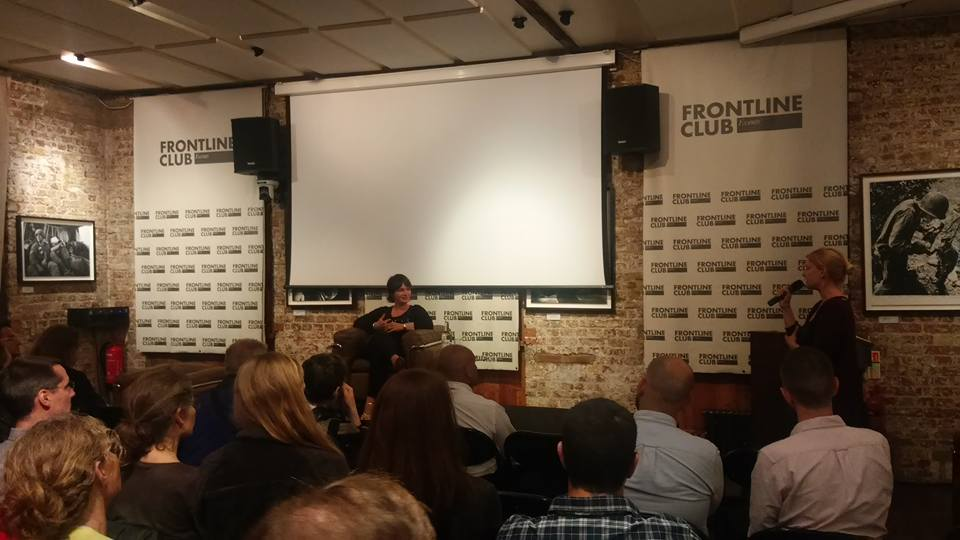 Manon Loizeau at the Frontline Club
