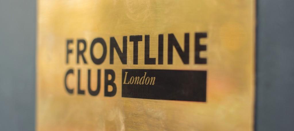 Frontline Club_Door_Banner