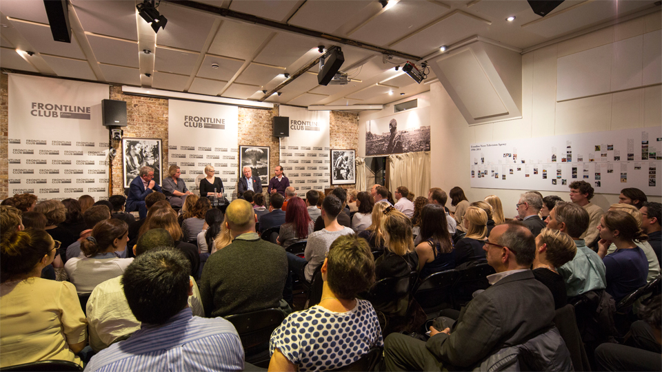 Crowd at a Frontline Club event