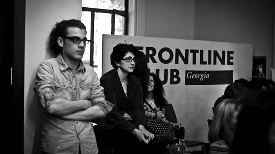 At a Frontline Club Georgia event