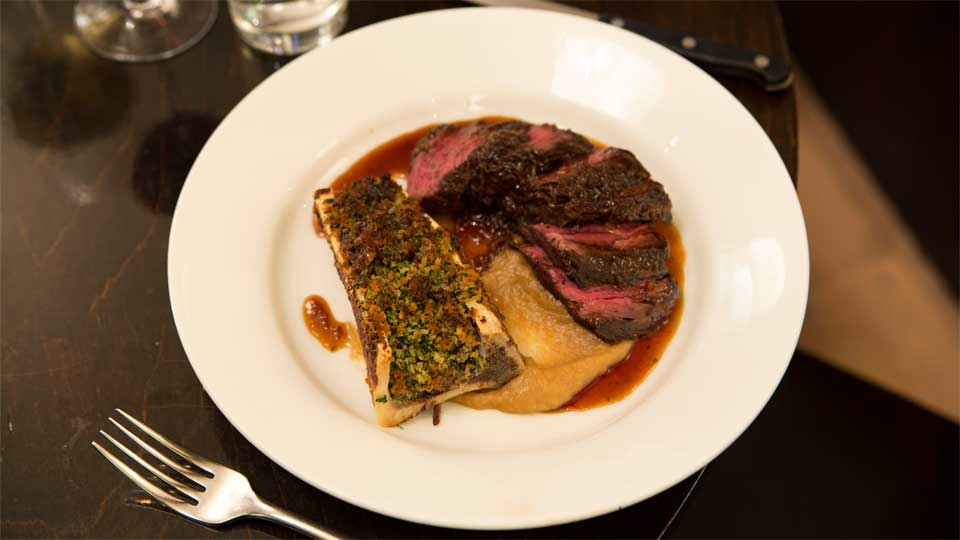 Steak at the Frontline Club