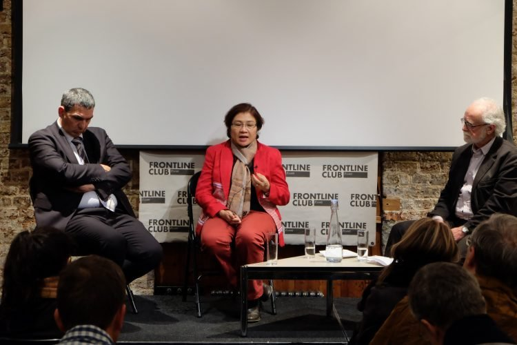Left to Right: Human rights campaigner, Igor Blaževič Burmese MP, Susanna Hla Hla Soe (National League for Democracy Party) Former Czech ambassador to the UK, Pavel Seifter