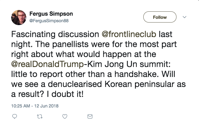 What insights did we learn from the USA-North Korean Nuclear Summit
